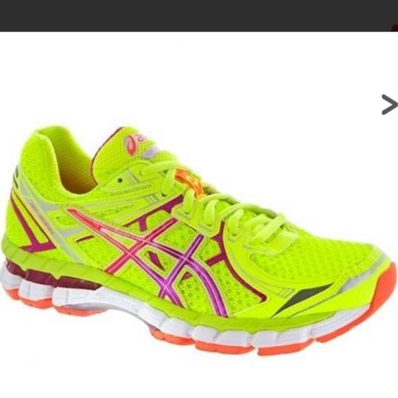 Asics GT 2000 2 Womens yellow running shoes Sz 8